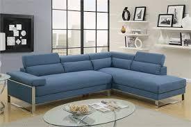 Sectional Sofa Blue Sectional Sofa Blue Poundex F6541