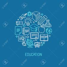 design online education vector linear logo design template online education and university
