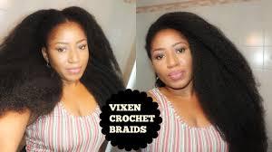 diy vixen crochets braid on short 4c hair with marley hair youtube