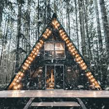charming a frame cabin in the snow in the pacific northwest 1080