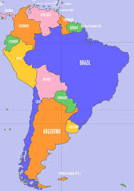 Brazil On South America Map by Political Map Of Central America And The Caribbean Nations Maps
