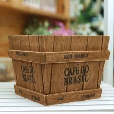 wood log vases coffee flower pot log rustic square fashion home accessories wood