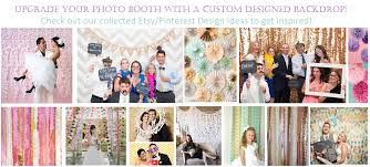 custom photo backdrop instant photo booths at click