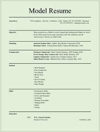 commercial model job description model resume sle superb modeling resume template free career