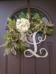 year hydrangea wreath for front door by flowenka on etsy