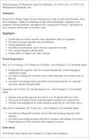 sle resume for customer relation officer resume 1 car rental agent resume templates try them now myperfectresume