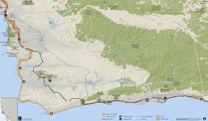 Amtrak National Map by Anza Trail Guide Santa Barbara