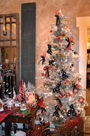 pictures of decorated flocked trees rainforest islands