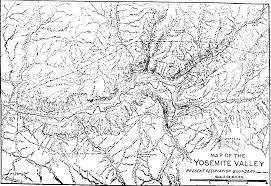 Map Of Yosemite The Mountains Of California By John Muir 1894 John Muir