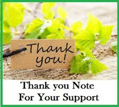 thank you messages support
