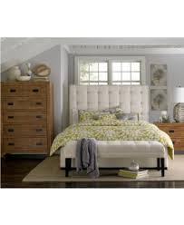King Bed Frame Upholstered Abby Upholstered King Bed Created For Macy S Furniture Macy S
