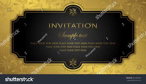 invitation card design luxury black gold stock vector 641295304