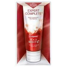toothpaste whitening colgate max white expert complete whitening toothpaste 90ml