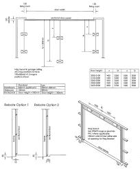 standard garage door opening specifications egmont doors taranaki