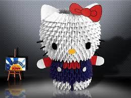 cara membuat origami hello kitty 3d hello kitty origami gallery coloring pages adult