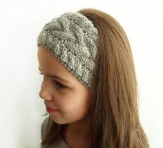 winter headbands knit headband ear warmer grey cable knit headband earwarmer