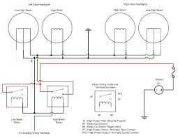 headlight wiring diagram with relay showy headlamp floralfrocks