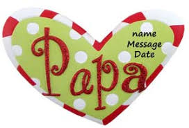 buy papa word ornament personalized ornament