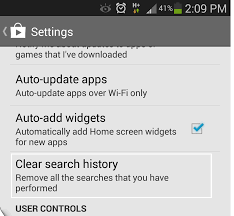 how to clear search history on android clear your search history chromecast without