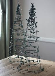 wire christmas tree with lights amusing wire christmas tree with lights brown copper led outdoor