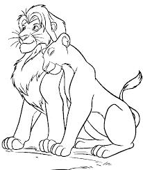 lion king mufasa sarabi free coloring u2022 animals disney