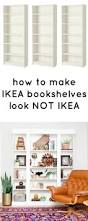 Ikea White Bookcases by How To Make Ikea Bookcases Look Not Ikea Ikea Bookcase Ikea