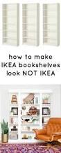 how to make ikea bookcases look not ikea ikea bookcase ikea
