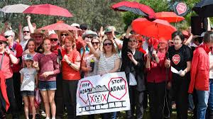 loud u0026 clear home theater adani mine fury rings out loud and clear in wodonga the border mail