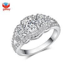 2018 galaxy 100 925 sterling silver wedding rings for women top