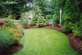 Bush Rock Garden Edging by Lawn Edging Ideas Wood Decorating Backyard With Three Lawn