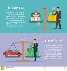save money for car and home asset property by businessman flat