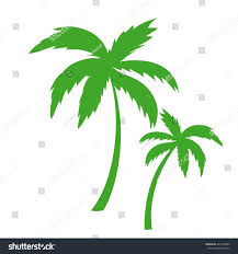 vector illustration silhouette palm trees stock vector 401358622