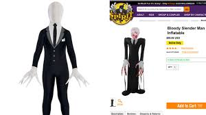 Halloween Costumes Kids Boys Party Wisconsin Community Outraged Sale Slender Man Halloween