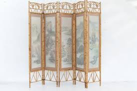 handpainted japanese room divider 1980s for sale at pamono