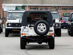 white convertible jeep 1997 land rover defender 90 soft top copley motorcars