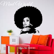 online get cheap wall stickers african woman aliexpress mad world african woman tribal girl beauty salon wall art stickers decal home diy decoration