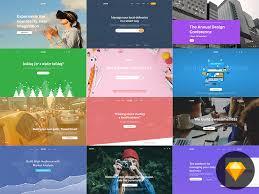 easetron web header kit free psds u0026 sketch app resources for