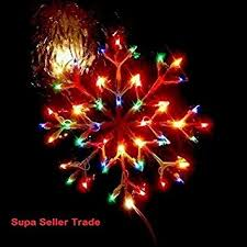 christmas window multicolour or warm white snowflake indoor use