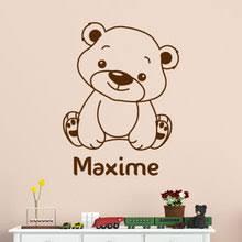 sticker ourson chambre bébé sticker ourson à personnaliser gali décoration chambre d