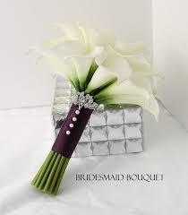 Calla Lily Bouquets Bridesmaid Calla Lily Bouquet Real Touch Creamy White Mini Calla