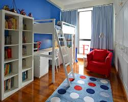Blue And Red Striped Rug Bedroom Fascinating Boy Bedroom Decoration Using Blue Wood Kid