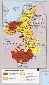 West Europe Map The Expansion Of Burgundy In Western Europe In The Late Middle