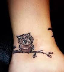 owl design for ankle