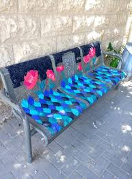 Creative Benches Locals Embroider Street Benches To Add Creative Color To Their