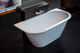 Back To Wall Bidet Aquatica Inflection B W Wht Back To Wall Cast Stone Bathtub