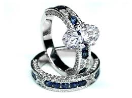 blue wedding rings wedding rings vintage sapphire rings cheap white sapphire