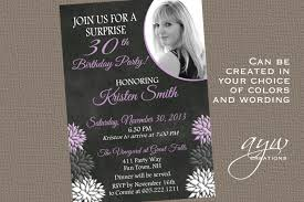 40th birthday party invitations for women chalkboard photo