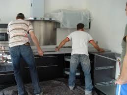 poser un plan de travail de cuisine la cuisine pose du plan de travail construction de notre maison
