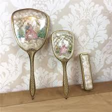 Dressing Table Sets Vintage Antique 3 Piece Dressing Table Set Vintage Lace Gold Hair Brush