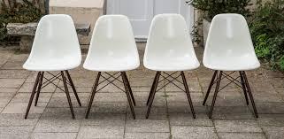 eames side chair dsw fiberglass set of 6 schlicht designmöbel